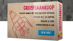 Groepsaankoop 'speelmateriaal' tot 10 april